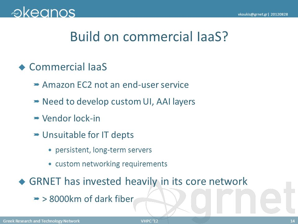 Build on commercial IaaS