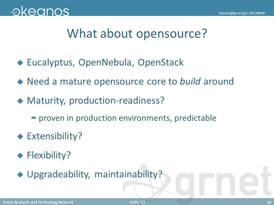 What about opensource Eucalyptus, OpenNebula, OpenStack