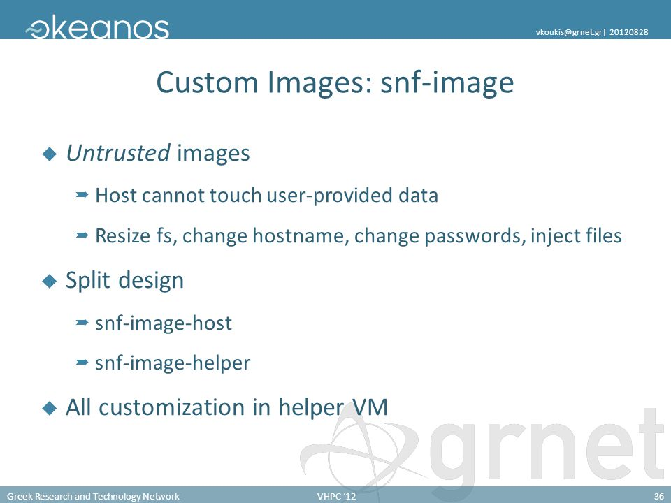 Custom Images: snf-image