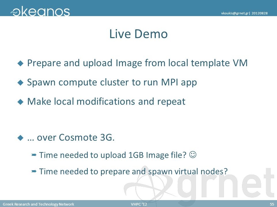 Live Demo Prepare and upload Image from local template VM