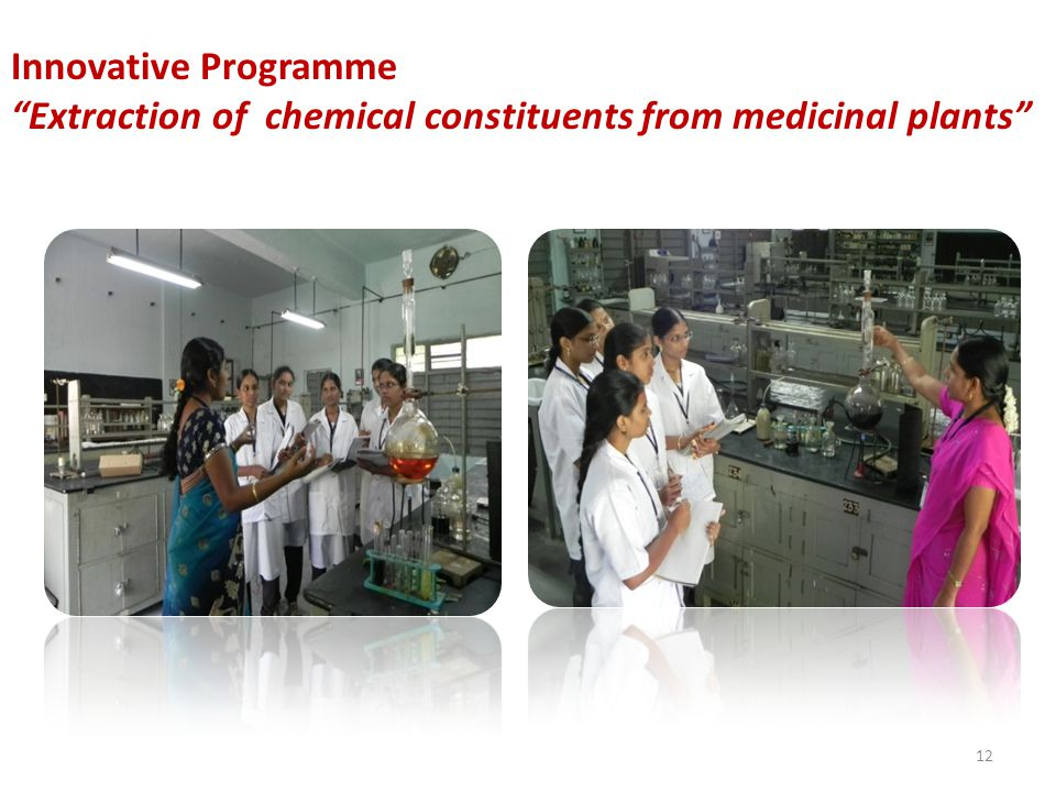 Innovative Programme Extraction of chemical constituents from medicinal plants