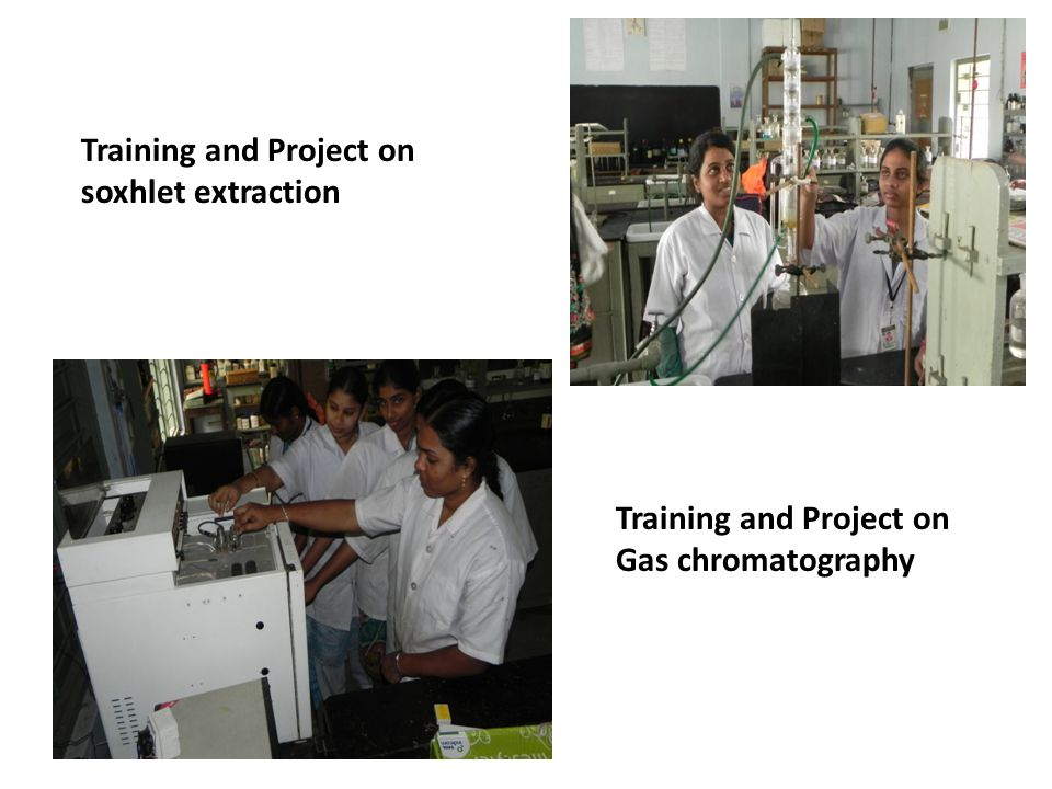 Training and Project on soxhlet extraction