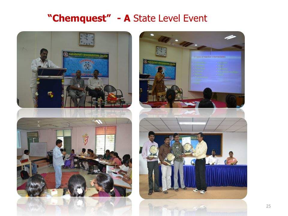 Chemquest - A State Level Event