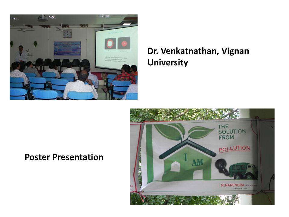 Dr. Venkatnathan, Vignan University