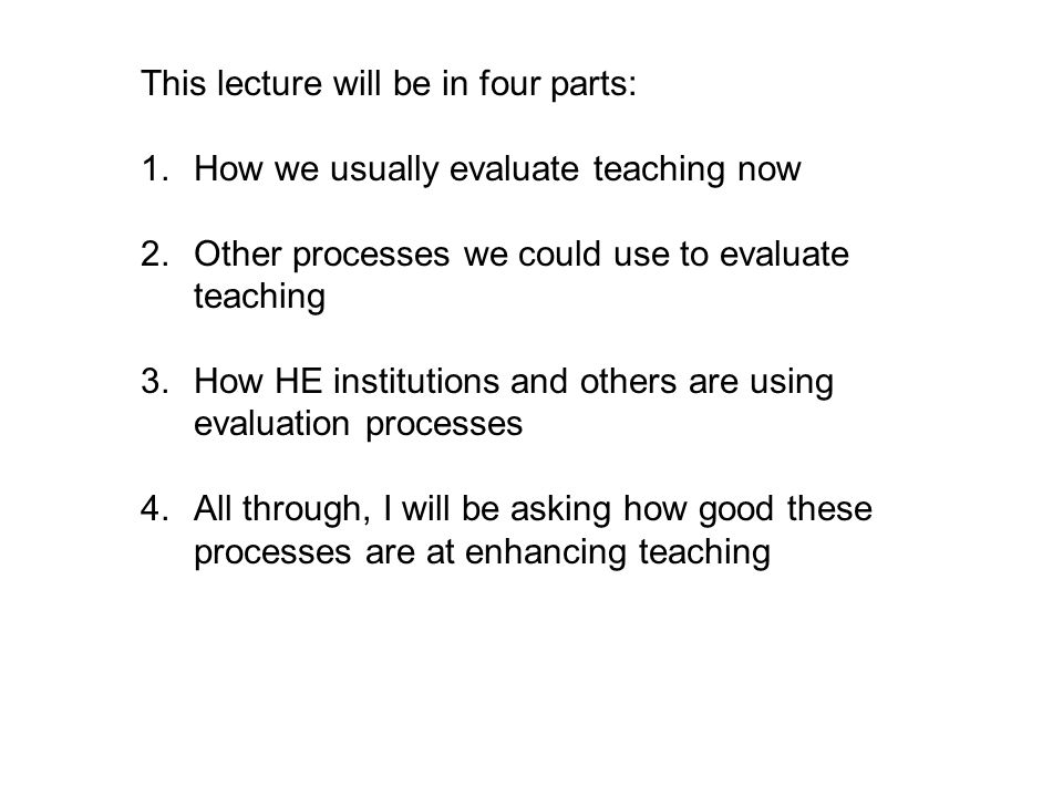 This lecture will be in four parts: