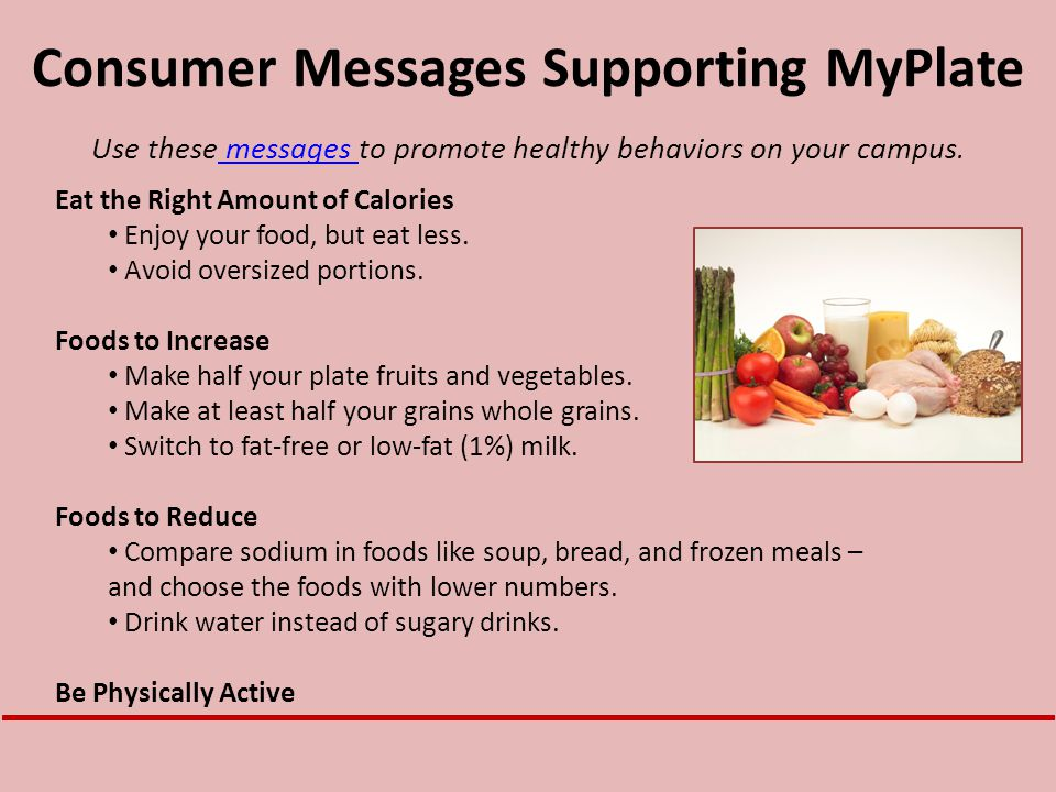 Consumer Messages Supporting MyPlate