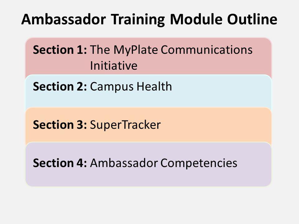 Ambassador Training Module Outline