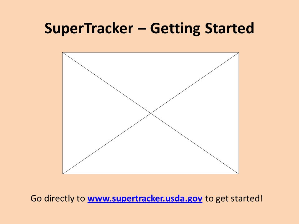 SuperTracker – Getting Started