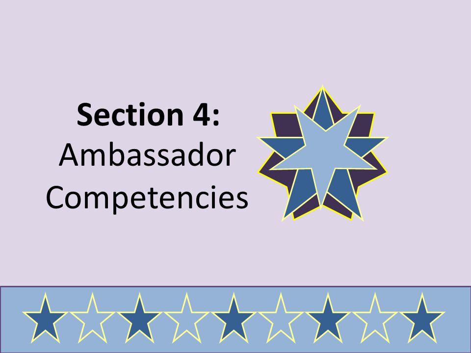 Ambassador Competencies