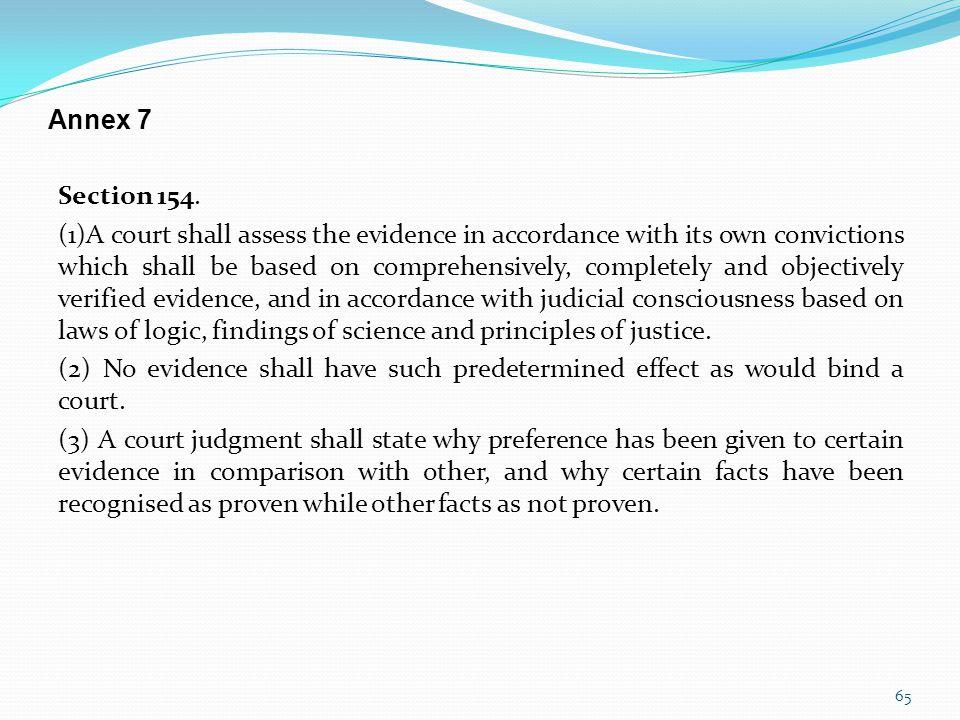 Annex 7 Section 154.