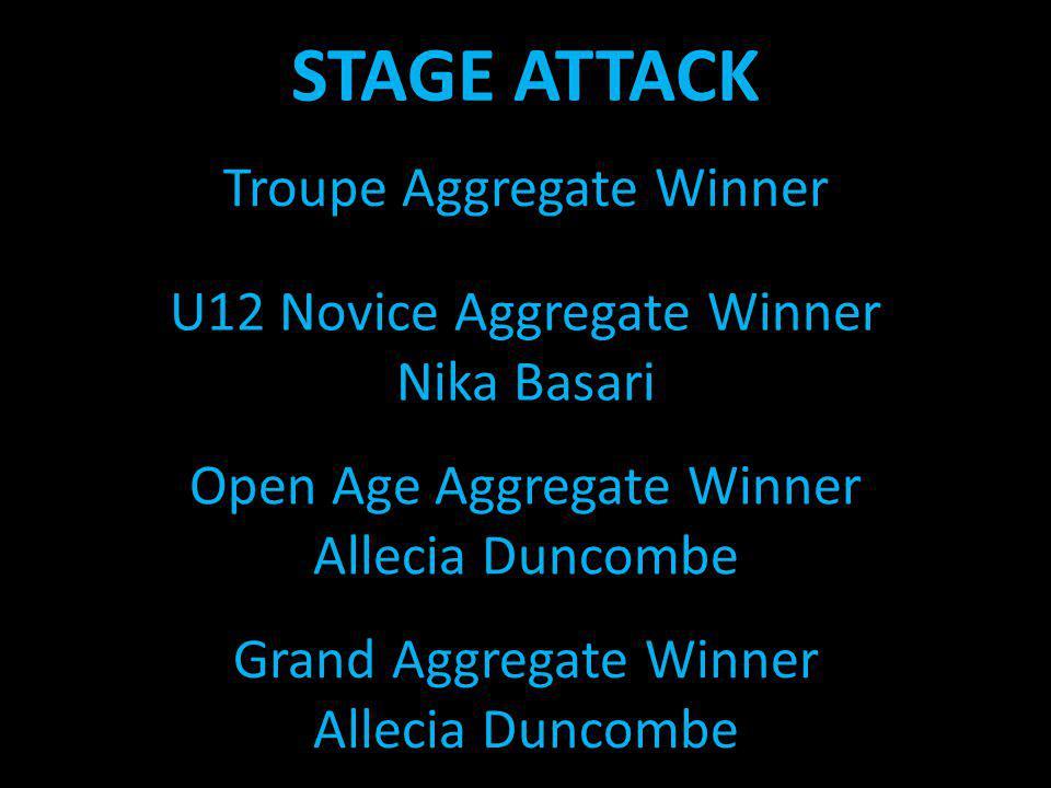 STAGE ATTACK Troupe Aggregate Winner U12 Novice Aggregate Winner