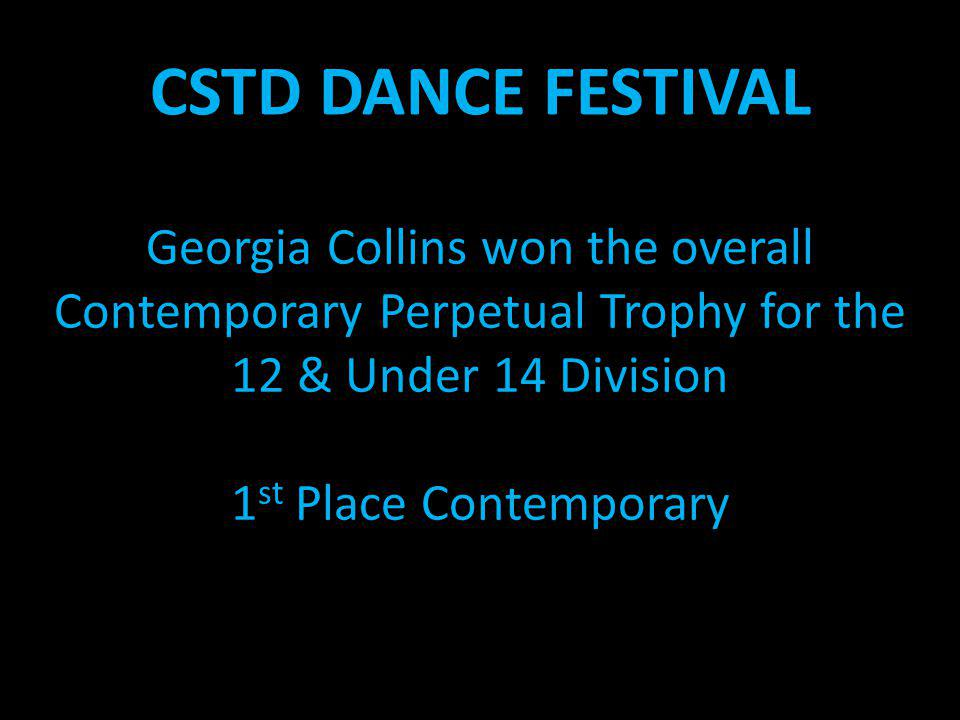 Georgia Collins won the overall Contemporary Perpetual Trophy for the