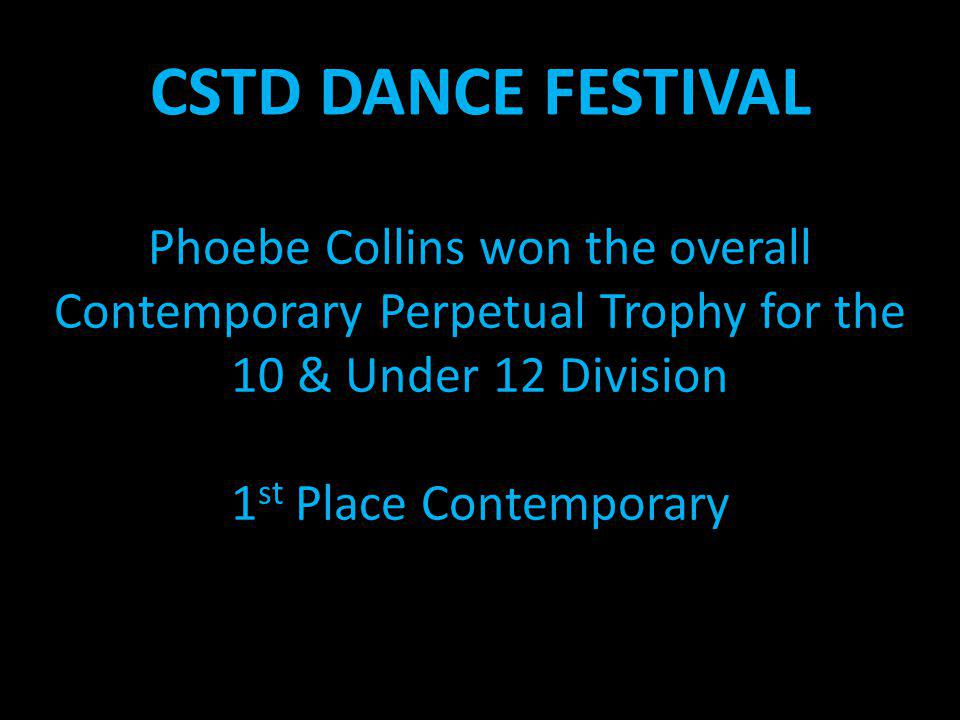 Phoebe Collins won the overall Contemporary Perpetual Trophy for the