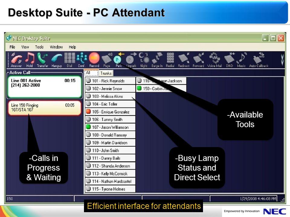 Desktop Suite - PC Attendant