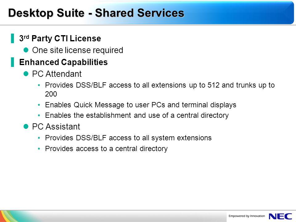 Desktop Suite - Shared Services