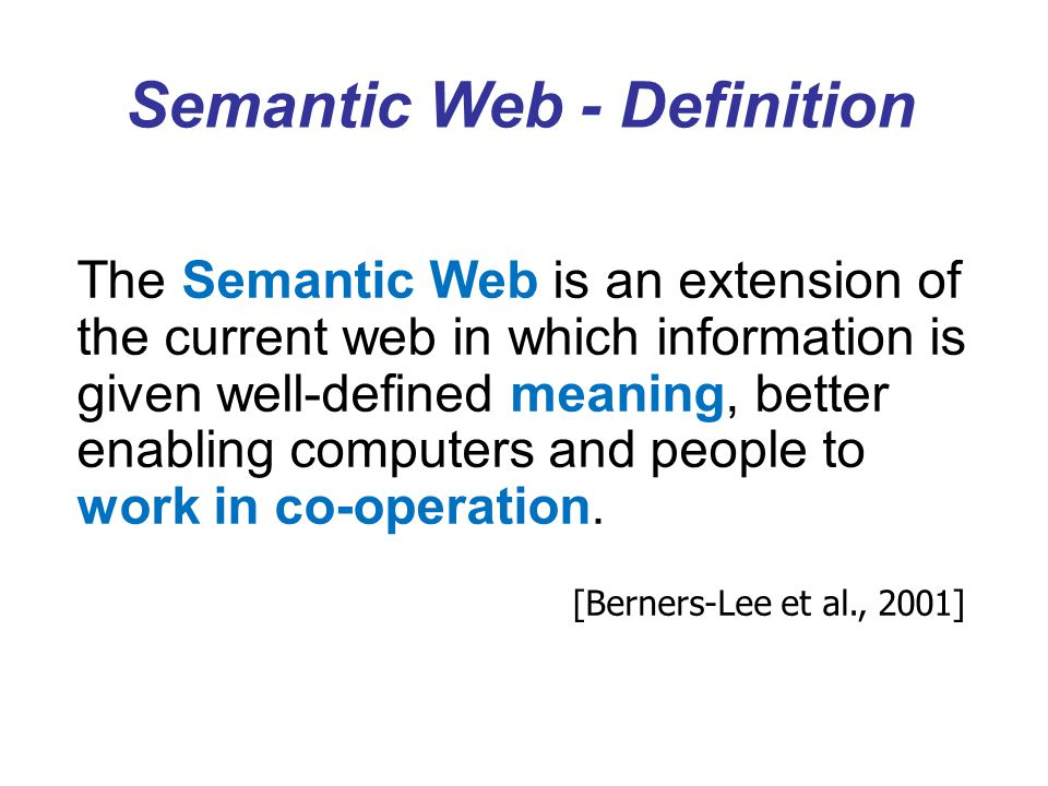 Semantic Web - Definition