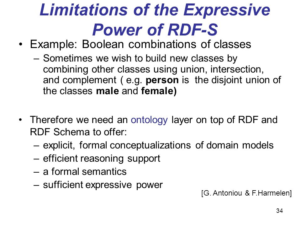 Limitations of the Expressive Power of RDF-S