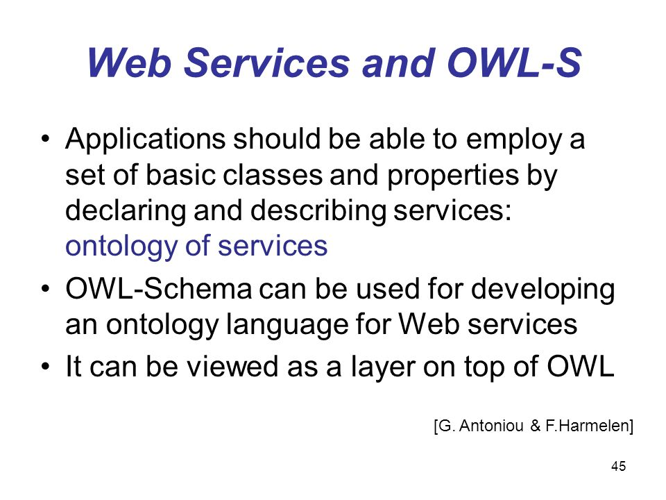 Web Services and OWL-S