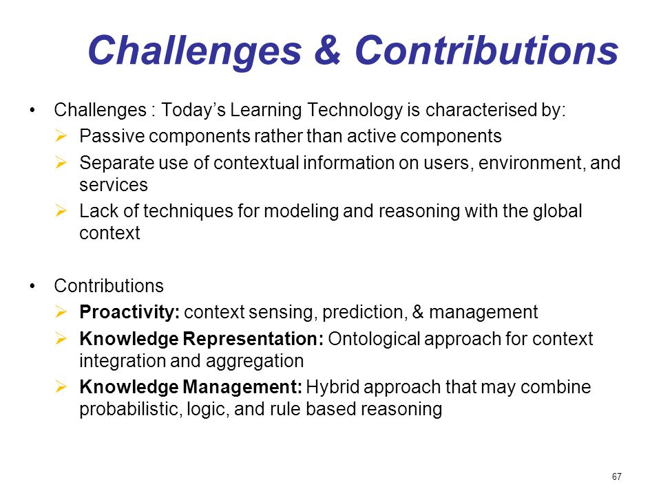 Challenges & Contributions