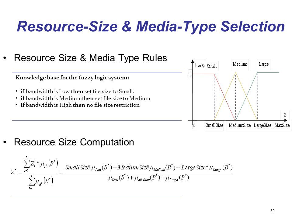 Resource-Size & Media-Type Selection
