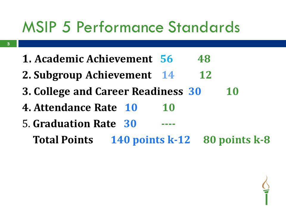 MSIP 5 Performance Standards