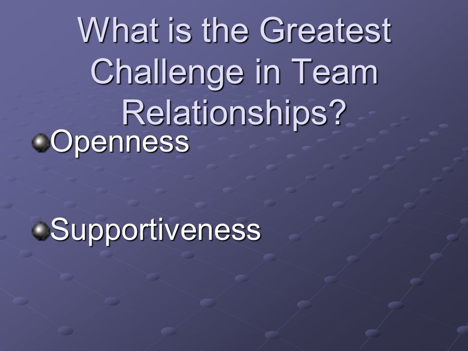 What is the Greatest Challenge in Team Relationships