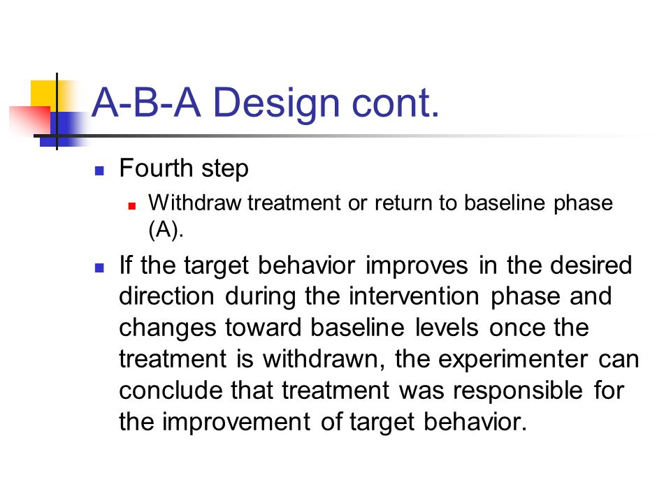 A-B-A Design cont. Fourth step