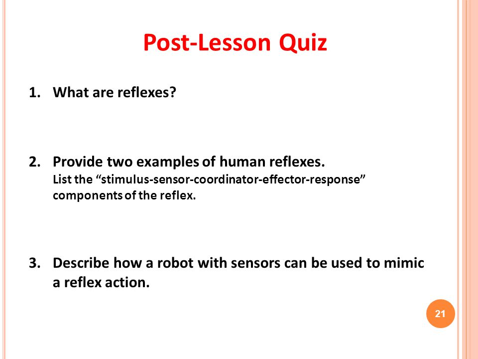 Post-Lesson Quiz