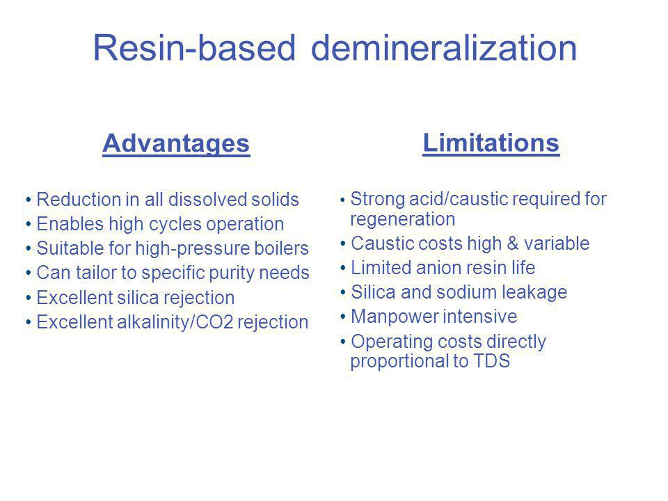 Resin-based demineralization