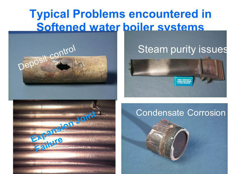 Typical Problems encountered in Softened water boiler systems
