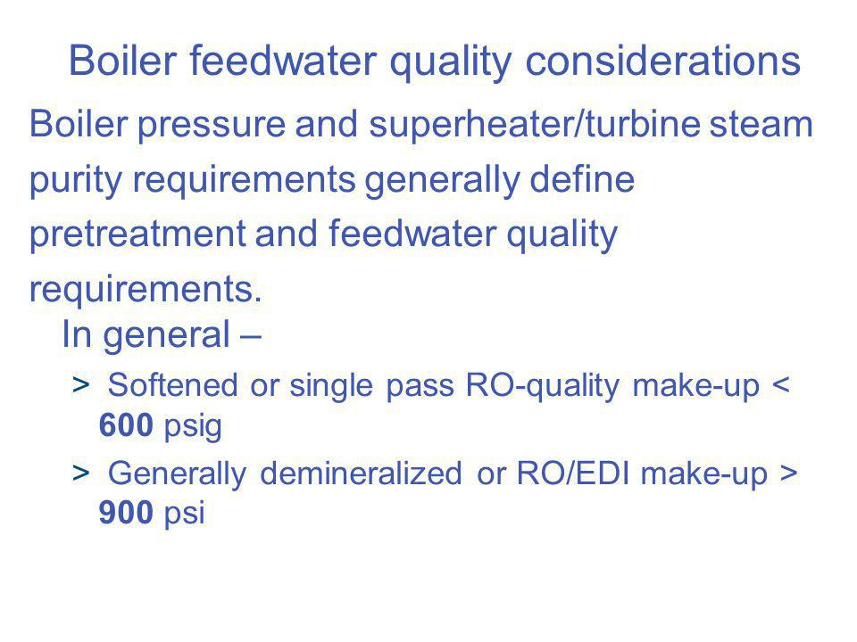 Boiler feedwater quality considerations