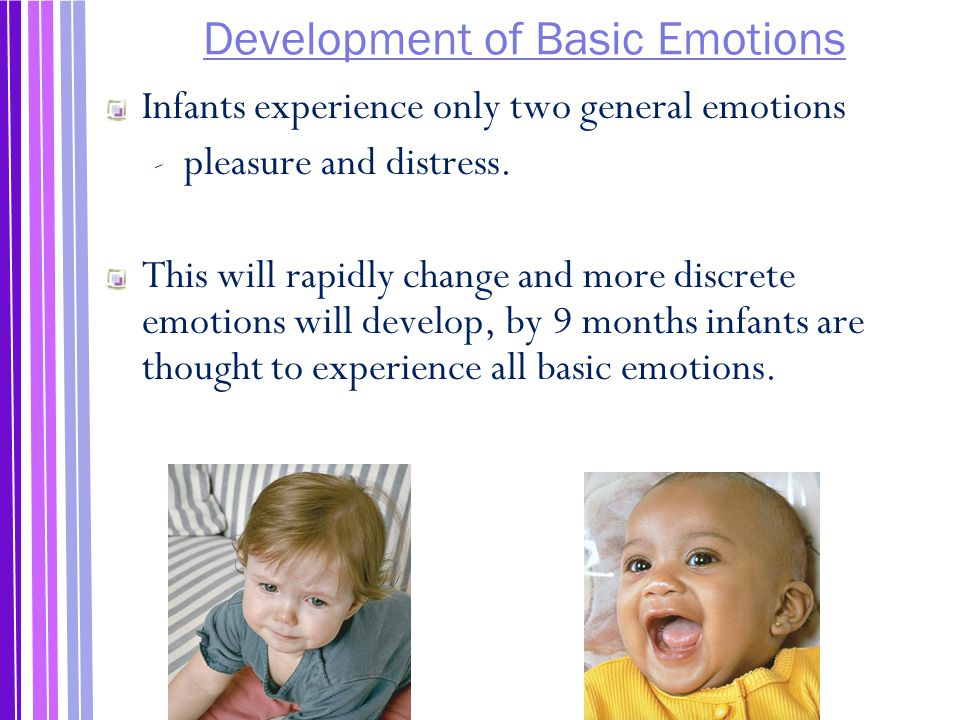 Development of Basic Emotions