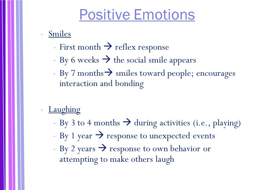 Positive Emotions Smiles First month  reflex response