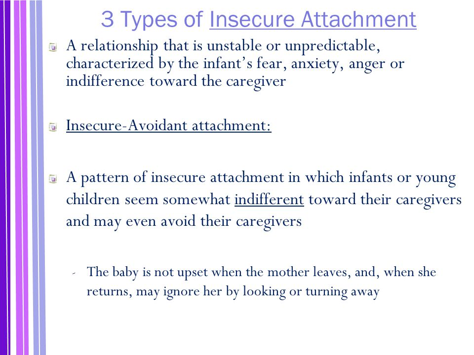 3 Types of Insecure Attachment