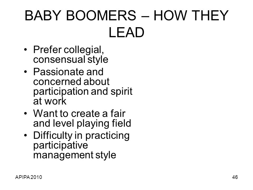 BABY BOOMERS – HOW THEY LEAD