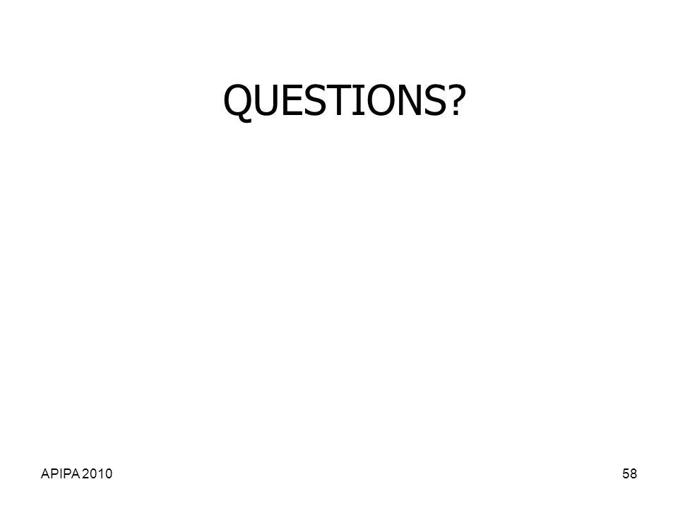 QUESTIONS APIPA 2010 APIPA 2010