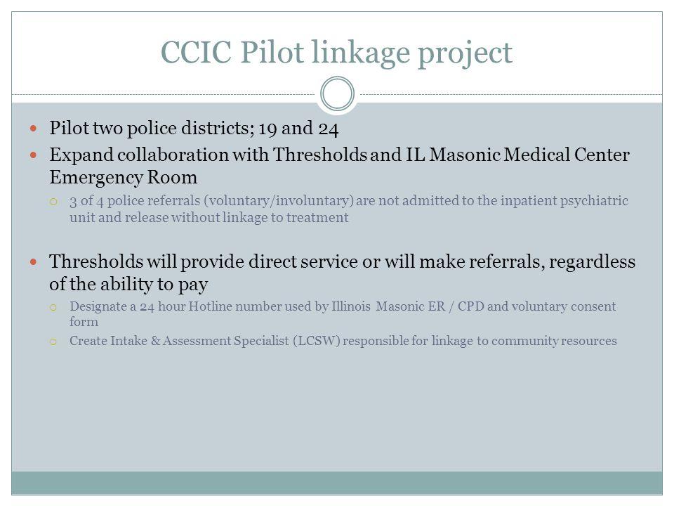 CCIC Pilot linkage project