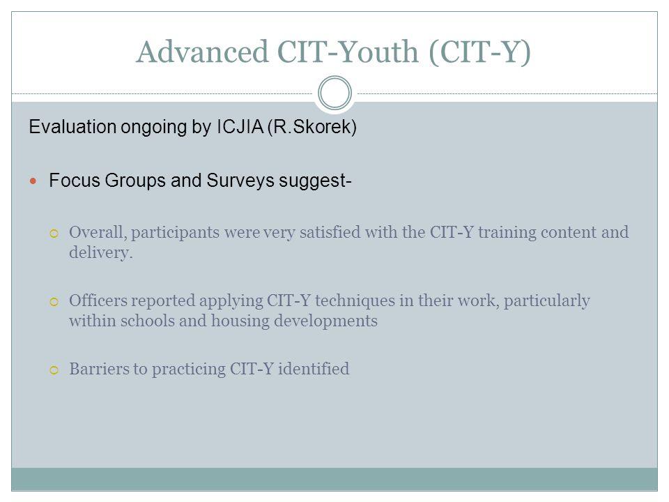 Advanced CIT-Youth (CIT-Y)