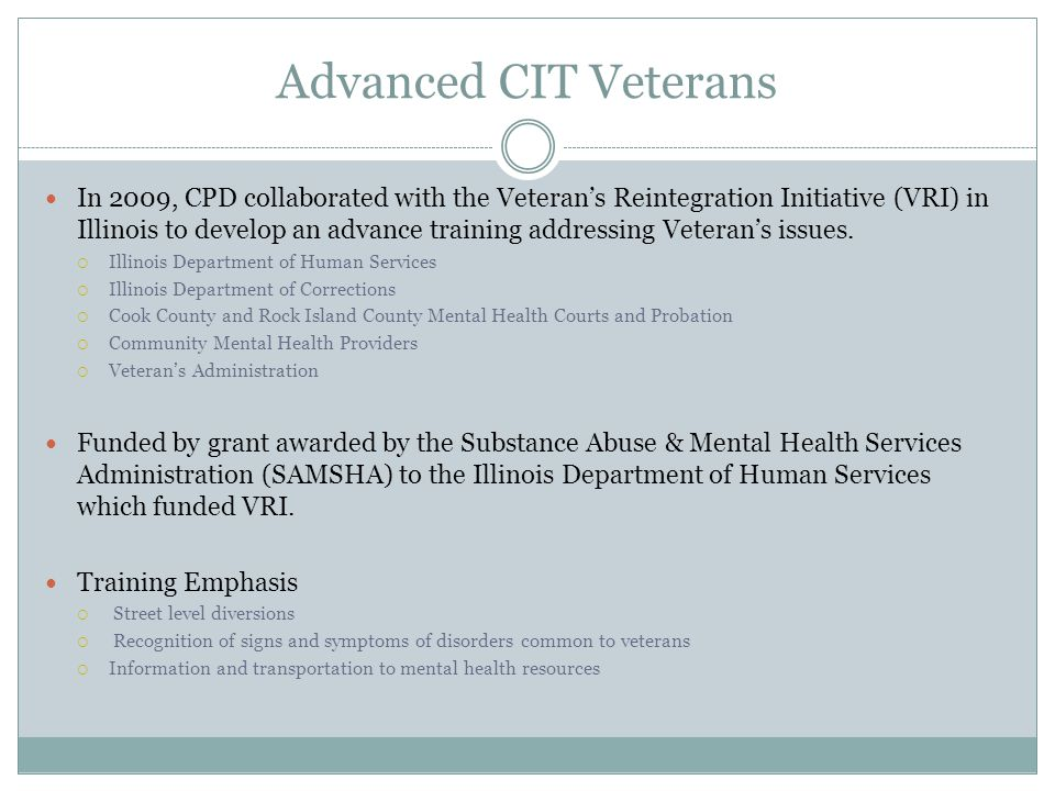 Advanced CIT Veterans