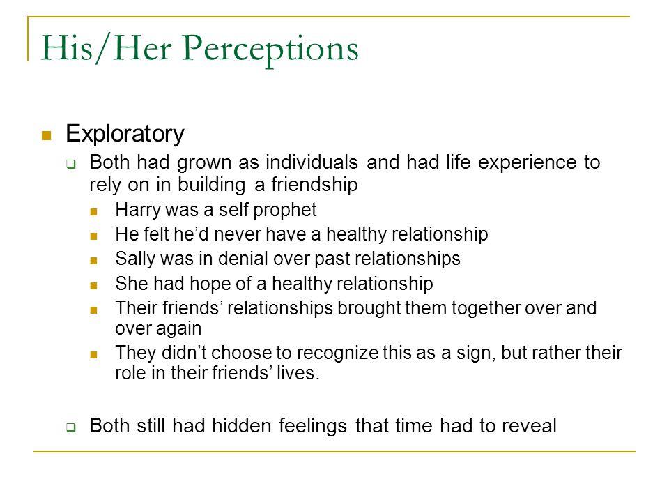 His/Her Perceptions Exploratory
