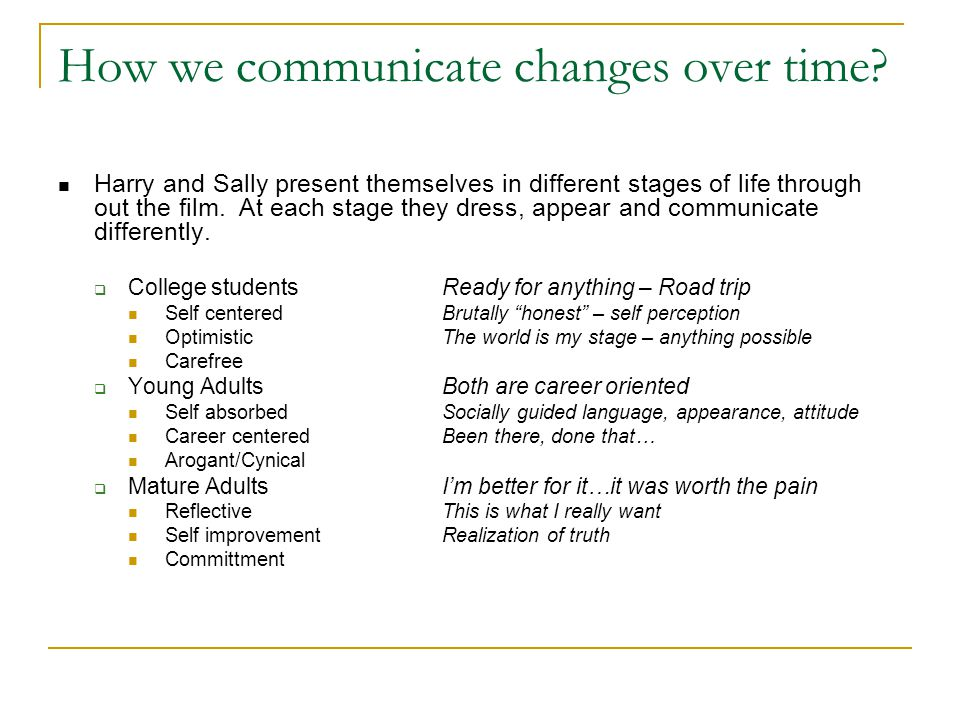 How we communicate changes over time