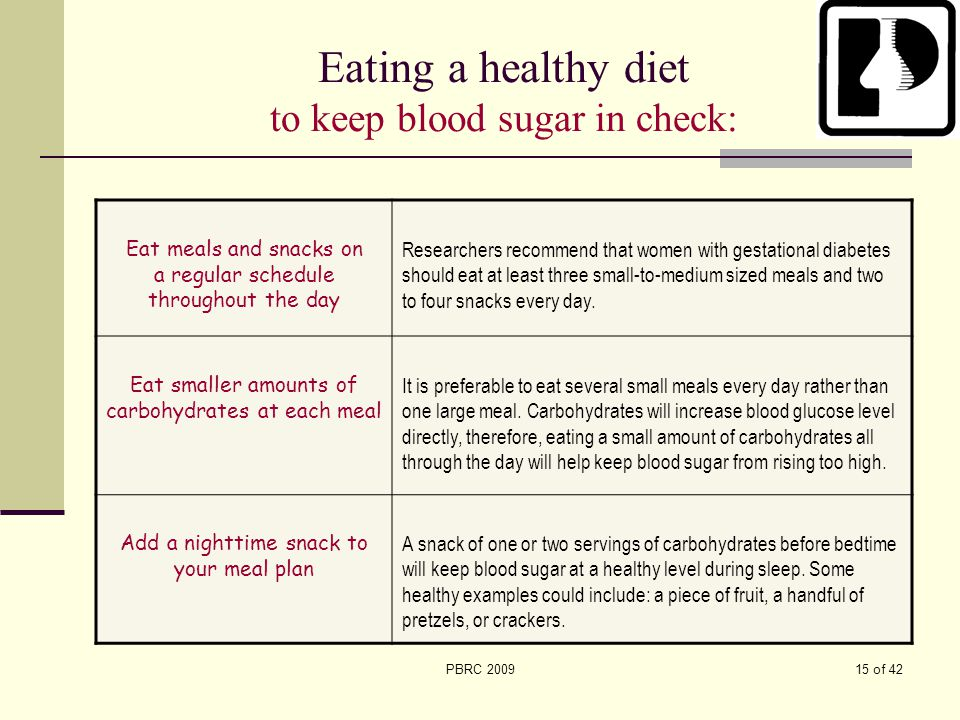 Eating a healthy diet to keep blood sugar in check: