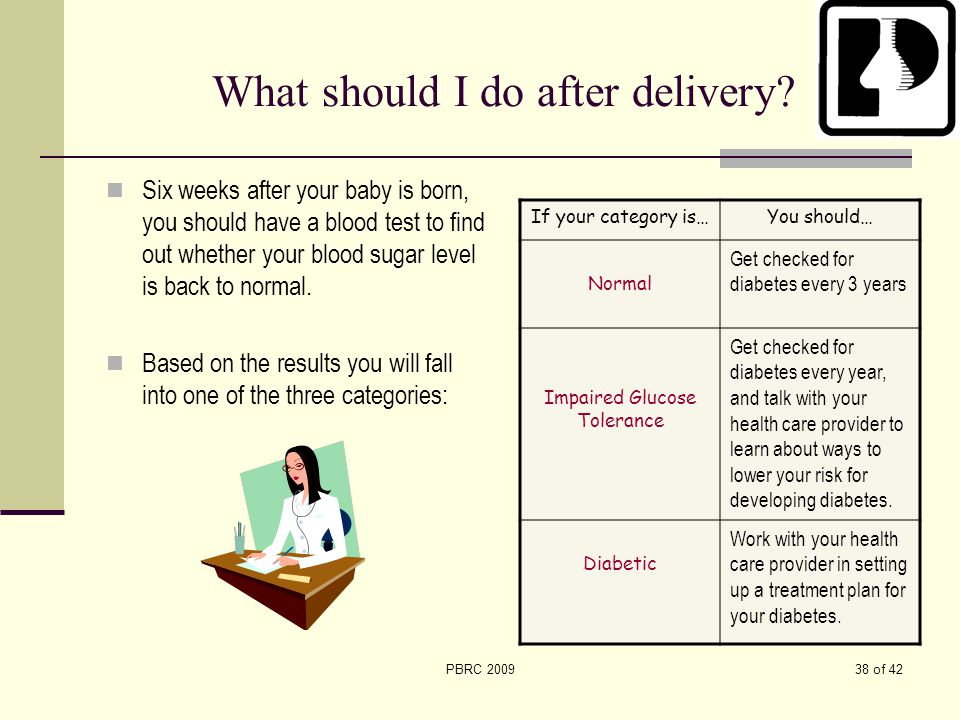What should I do after delivery