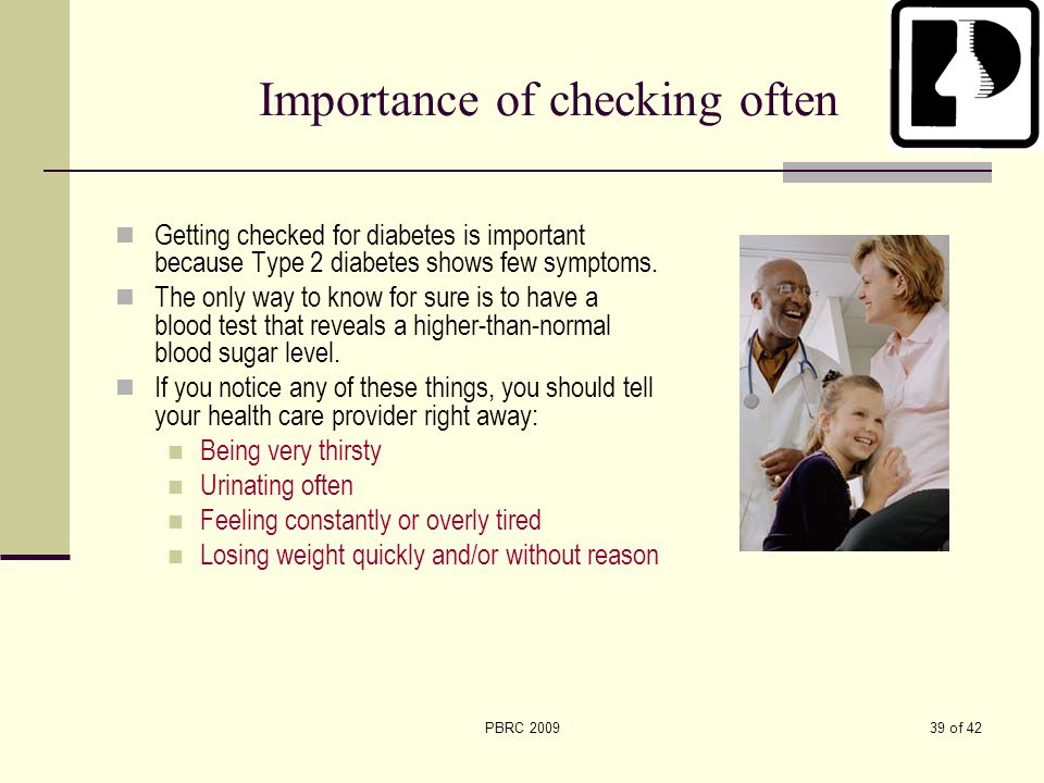 Importance of checking often