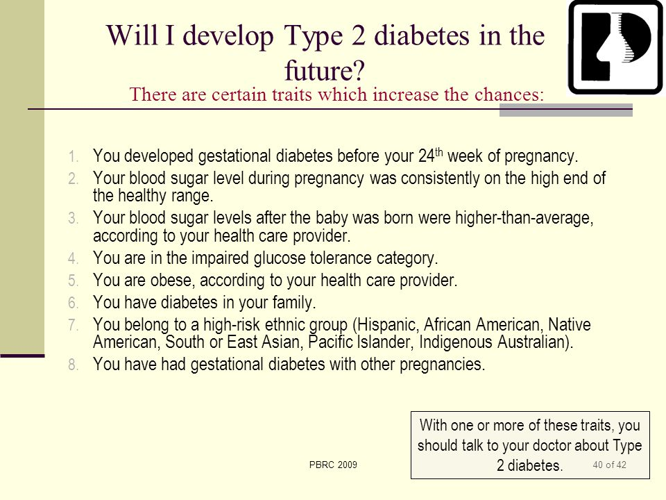 Will I develop Type 2 diabetes in the future