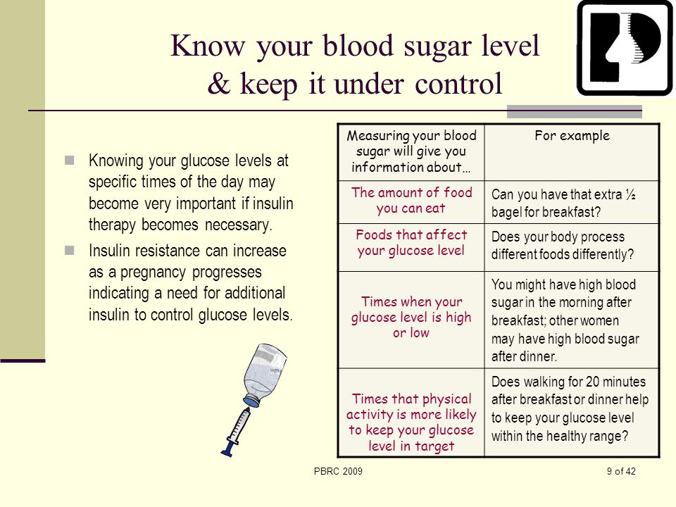Know your blood sugar level & keep it under control