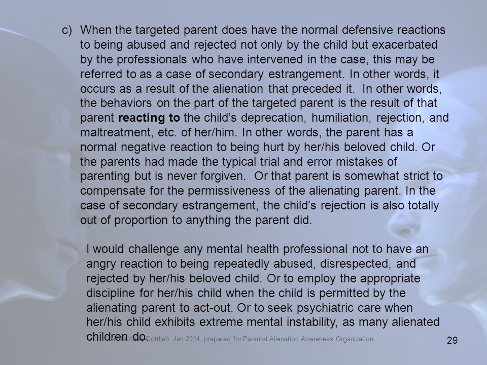 How to find this family dynamic in the DSM 5 (pp. 715-719)