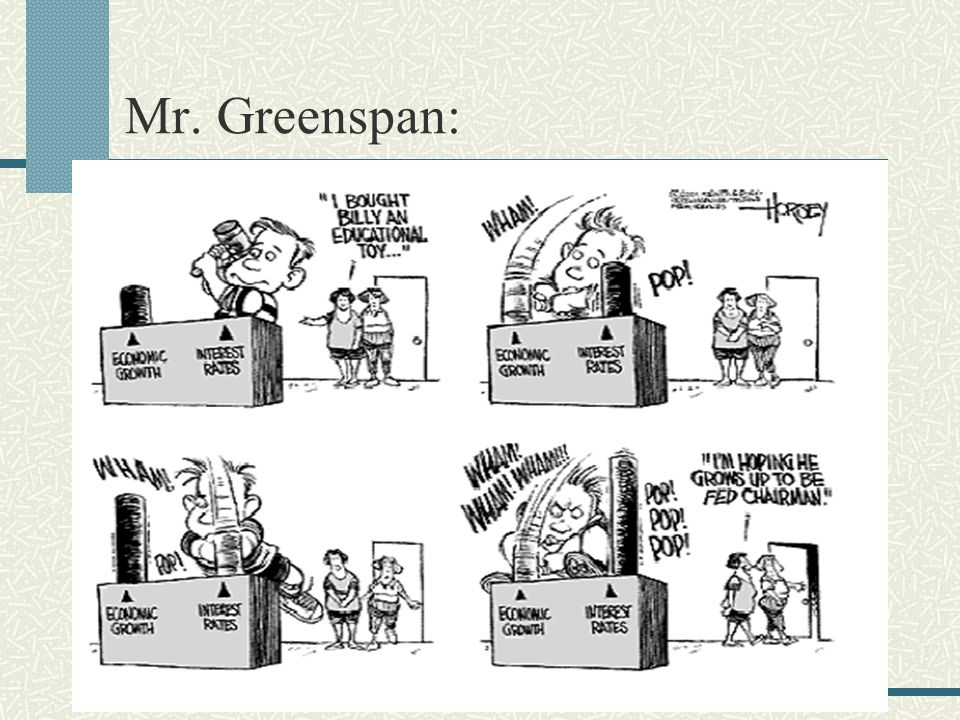Mr. Greenspan:
