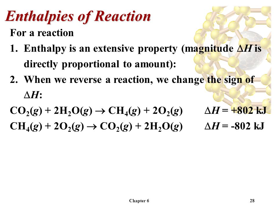 Enthalpies of Reaction