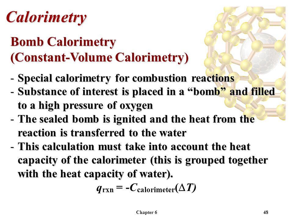 qrxn = -Ccalorimeter(DT)